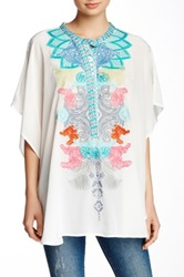 Biya Embroidered Silk Blouse Multi