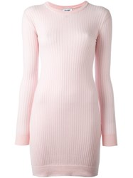 Courreges Ribbed Knit Dress Pink And Purple