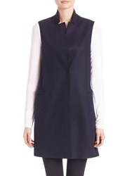 Harris Wharf London Virgin Wool Vest Navy Blue