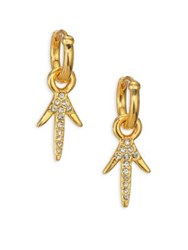 Giles And Brother Thorn Crystal Drop Earrings Gold