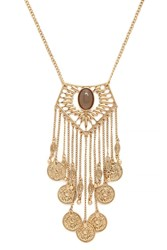Forever 21 Faux Stone Longline Necklace