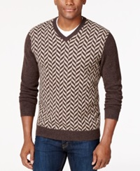 Club Room Cashmere Herringbone V Neck Sweater Only At Macy's Porcupine