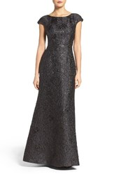 Vera Wang Women's Textured Metallic Gown