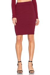 Susana Monaco Pencil Skirt Maroon