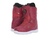 Dc Search Boot Maroon Women's Cold Weather Boots Red