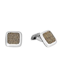 John Hardy 18K Gold And Sterling Silver Chain Jawan Cufflinks Gold Silver