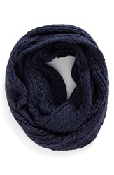 Lulu Junior Women's Cable Knit Infinity Scarf Navy