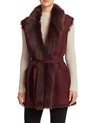 Vince Suede And Shearling Vest Black