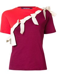 Jacquemus Bow Detail Contrast T Shirt Red