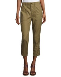 The Great Slouch Army Cargo Pants Olive