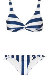 Solid And Striped The Jane Triangle Bikini Navy