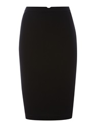 Pied A Terre Pencil Skirt With Exposed Zip Black