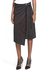 Women's Glamorous Faux Suede Skirt Black