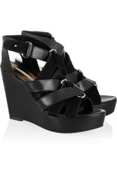 Twelfth St. By Cynthia Vincent 12Th Street Lila Leather And Suede Wedge Sandals