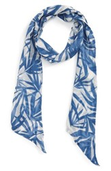 Sole Society Women's Palm Print Skinny Scarf