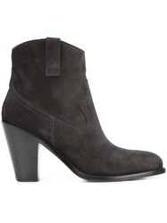Saint Laurent 'Curtis 80' Western Ankle Boots Black