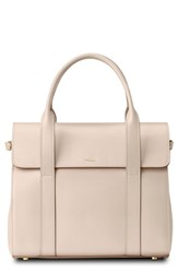 Shinola Small Grained Leather Satchel Pink Soft Blush