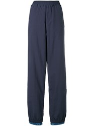 Y Project Extended Cuff Track Pants Blue