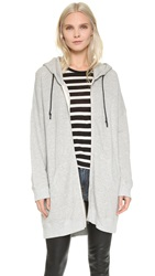 R 13 Long Hooded Sweatshirt Heather Grey
