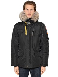 Parajumpers Right Hand Down Jacket W Fur Trim Black