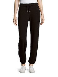 Andrew Marc New York Solid Cotton Blend Pants Black