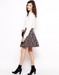 Orla Kiely Mini Skirt In Spot The Dog Print Amethistmulti