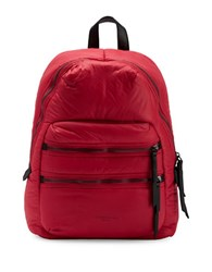 Liebeskind Saku Nylon And Leather Backpack Red