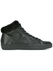 Leather Crown 'Lapin' Hi Tops Black