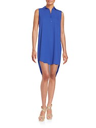 Collective Concepts Sleeveless Shirtdress Cobalt