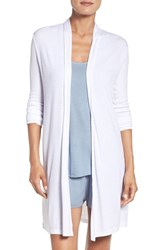 Barefoot Dreamsr Women's Dreams Luxe Long Cardigan White