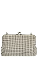 Whiting And Davis Mesh Clutch Metallic Pewter