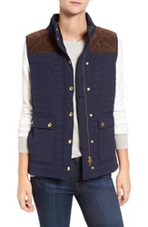 Vineyard Vines Women's Suede Yoke Quilted Vest