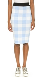 Endless Rose Check Pencil Skirt Powder Blue