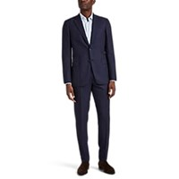 Brioni Brunico Overplaid Wool Two Button Suit Navy
