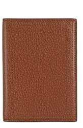 Lodis Stephanie Leather Passport Cover Brown Chestnut