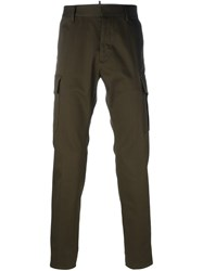 Dsquared2 Flap Pocket Straight Trousers Green