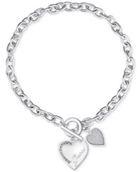 Guess Toggle Collar Necklace Silver