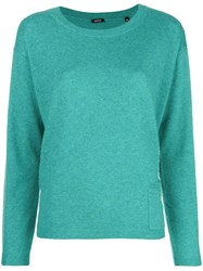 Aspesi Cashmere Fine Knit Sweater Green