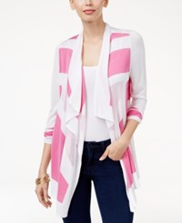 Inc International Concepts Colorblocked Cardigan Only At Macy's Intense Pink