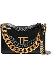 Tom Ford Palmellato Chain Embellished Leather Shoulder Bag Black