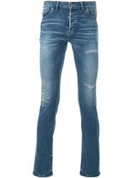 Hl Heddie Lovu Distressed Slim Fit Jeans Blue