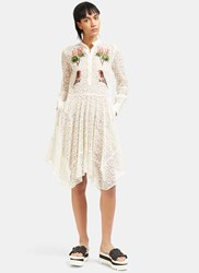 Stella Mccartney Embroidered Lace Dress Cream