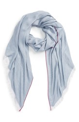 Women's Sole Society Herringbone Scarf Blue