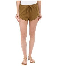 Volcom Lived In Fleece Shorts Army Women's Shorts Green