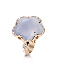 Pasquale Bruni 18K Rose Gold Floral Ring With Chalcedony And Diamonds