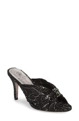 Adrianna Papell Flo Sandal Pewter Lace Fabric
