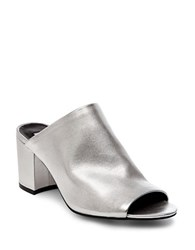 Steve Madden Infinity Leather Mules Silver