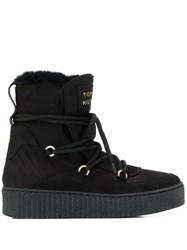 Tommy Hilfiger Lace Up Snow Boots Black