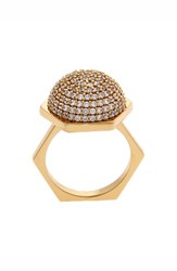 Women's Rachel Zoe 'Sophia' Pave Dome Ring Clear Gold