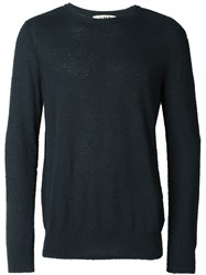 Ymc Toweling Crew Neck Jumper Blue